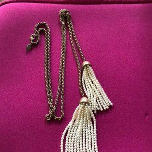 Loft double pearl bronze necklace